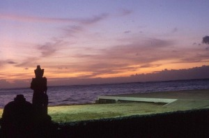 Sunset at Kunta Beach, Bali.  June, 1987.