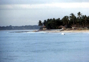 A beach on Bali.  June, 1987.