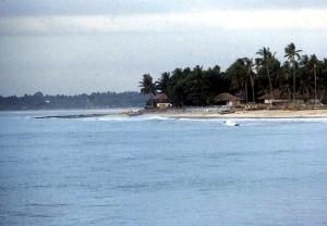 A beach on Bali.  June, 1987.