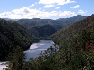 Cheoah Dam and Lake, Tennessee.  October 13, 2009.