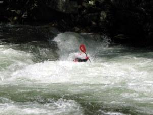 Whitewater Rafting on the Nantahala River, North Carolina.  May 30, 2009.