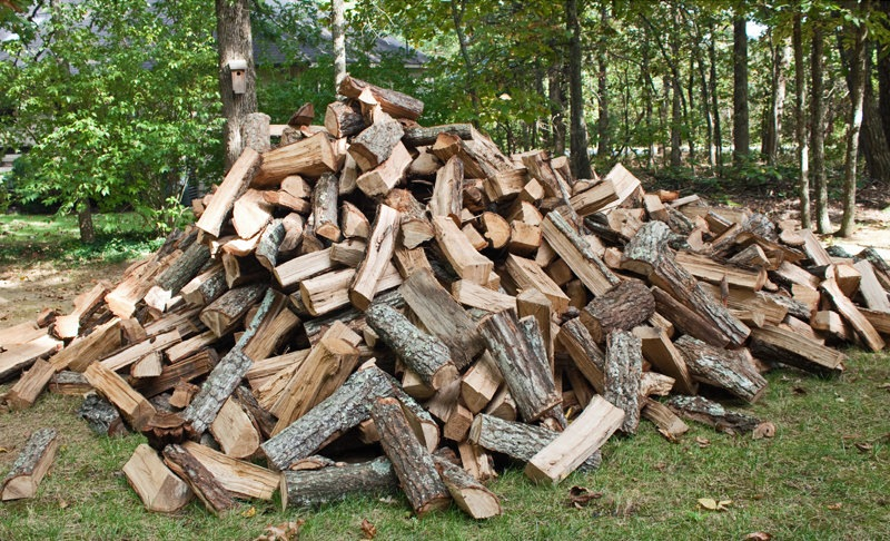 Pile Of Timber : Wood heat a heckuva lot of work the organic prepper