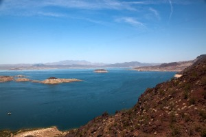 Lake Mead from an overlook at Hoover Dam.  June 17, 2011.