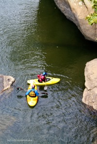 Kayakers on the New River above Fayette Station Rapids. September 17, 2011. (Photo by Betsy)