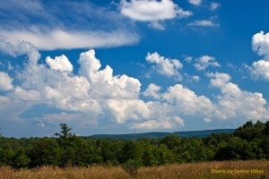 Summer skies on the Cumberland Plateau, Hebbertsburg, Tennessee.  June 27, 2010.
