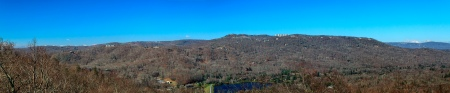 The mountains of western North Carolina as seen from an overlook on Grandfather Mountain.  November 8, 2011.