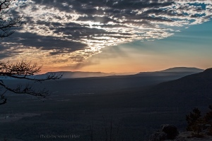 Sunset on Mount Nebo, Arkansas.  February 11, 2013.