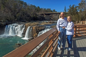 Betsy and I at Fall River Falls, Fort Payne, Alabama.  March 8, 2013.