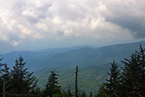 The view from Waterrock Knob.  August 4, 2011.