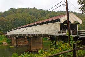 Covered Bridge in Philippi, West Virginia.  September 15, 2011.