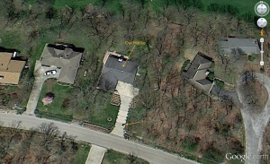 Google Earth image of our house.  April 2013.
