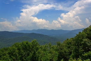 The view from Tanbark Ridge Overlook, Blue Ridge Parkway, North Carolina.  June 26, 2013.