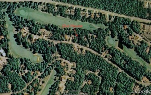 Google Earth image of our home.  September, 2010.