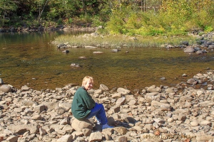 Betsy at the Emory River near Wartburg, Tennessee.  October 25, 2013.
