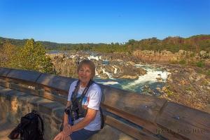 Betsy at Great Falls of the Potomac, Great Falls Park, Virginia.  September 24, 2013.