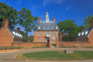 The Governor's Palace at Colonial Williamsburg.  September 21, 2013.