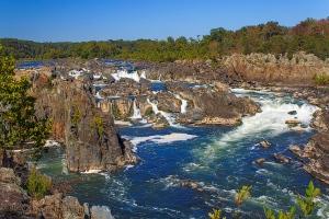 Great Falls of the Potomac, Great Falls Park, Virginia.  September 24, 2013.