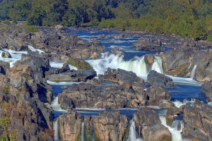 A closer look at part of the Great Falls of the Potomac.  September 24, 2013.