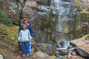 Patti and Neal at the base of Bad Branch Falls.  October 23, 2013.