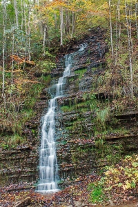 Burrell Creek Falls, Reliance, Tennessee.  October 23, 2013.