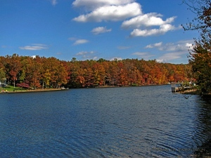 Lake Canterbury, Fairfield Glade, Tennessee.  October 30, 2013.
