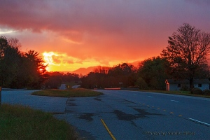 A fiery mountain sunset.  October 23, 2013.