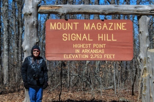 Betsy at Signal Hill, Mt. Magazine State Park, Arkansas.  February 26, 2014.