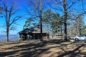 'Our' cabin on Mt. Nebo, Arkansas.  February 26, 2014.