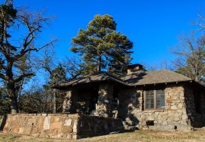 The back of 'our' cabin, Mt. Nebo, Arkansas.  February 27, 2014.