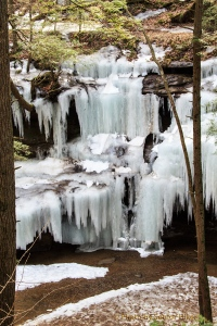 Ice along canyon walls, Hocking Hills State Park, Ohio.  March 10, 2014.