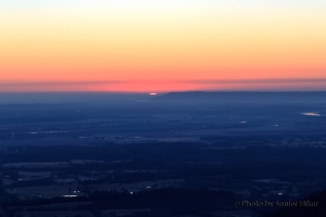 The sun making its first appearance across the Arkansas River valley.  February 27, 2014.