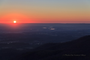 The day is off to a great start on Mt. Nebo, Arkansas.  February 27, 2014.