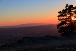 Sunset at Mt. Nebo, Arkansas.  February 26, 2014.