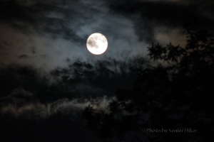 Moon and clouds, Friday, June 13, 2014.  Fairfield Glade, Tennessee.