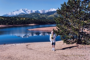Betsy at Crystal Creek Reservoir, Pikes Peak, Colorado.  September 14, 2012.
