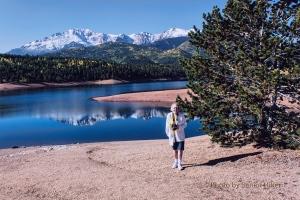 Betsy at Crystal Creek Reservoir, Pikes Peak, Colorado.  September 14, 2012.
