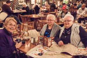 Betsy, Ruth and Gwen at Cracker Barrel, Nashville, Tennessee.  December 29, 2014.