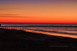 Ocean Isle Beach, North Carolina, pier in the morning light.  January 29, 2015.