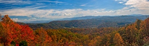 The Smoky Mountains as seen from the Foothills Parkway.  October 23, 2012.