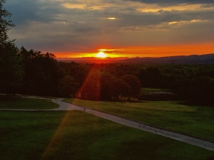 A light to show us the way. The fourteenth hole of Druid Hills Golf Course. April 30, 2016.